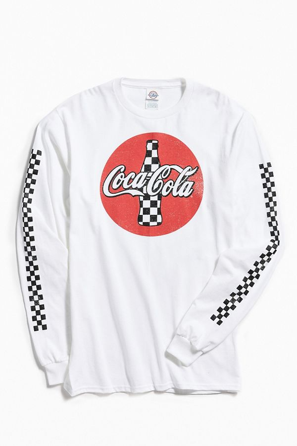 4c4085735e Checkered Coca-Cola Long Sleeve Tee | Urban Outfitters