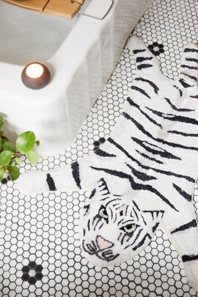 Tiger Bath Mat Urban Outfitters