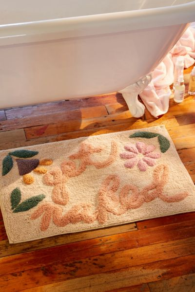 Get Naked Floral Bath Mat Urban Outfitters