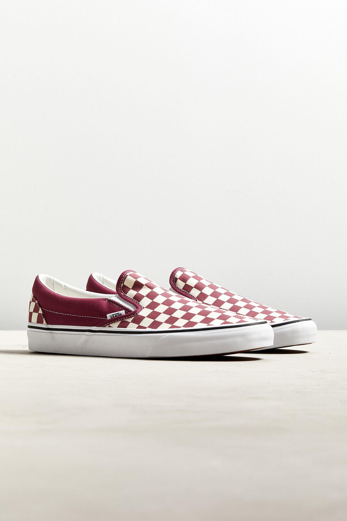 4403c0ee4f893b Vans Classic Colorful Checkerboard Slip-On Sneaker