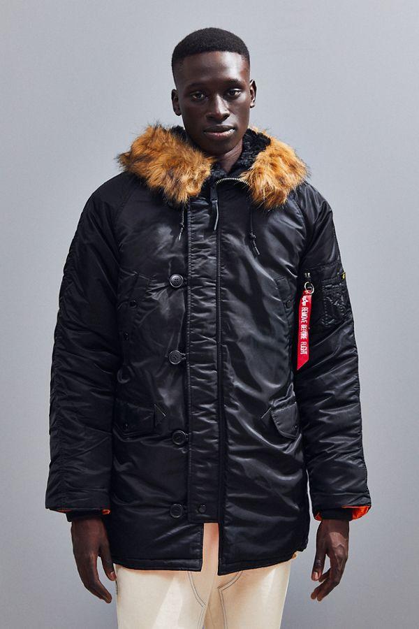 kupuję teraz rozsądna cena gorące wyprzedaże Alpha Industries Slim Fit N-3B Parka Coat