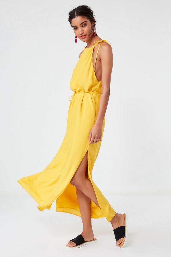 018528a2f8d UO Blaze High-Neck Maxi Dress