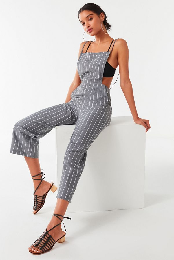 05ba1fb3a123 UO Striped Chambray Jumpsuit
