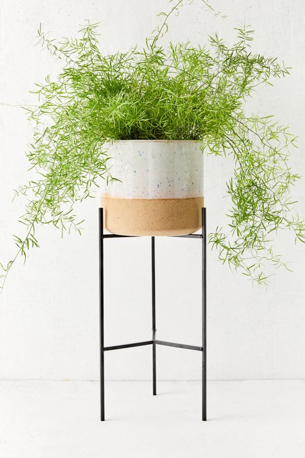 "Slide View: 2: Brina 10"" Planter + Stand"