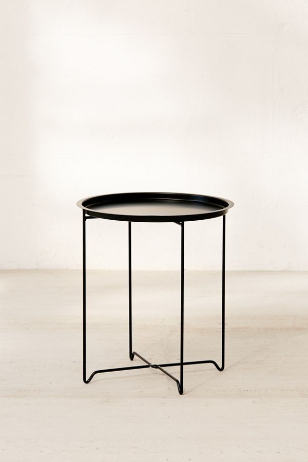 Swell Metal Folding Side Table Gmtry Best Dining Table And Chair Ideas Images Gmtryco