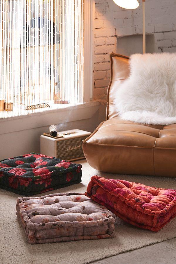 Sierra Floral Velvet Floor Pillow