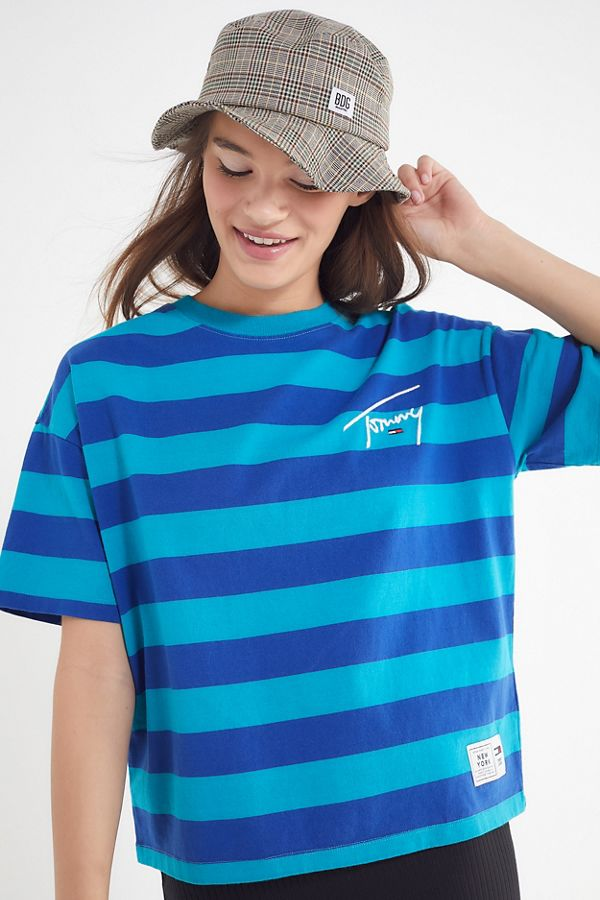 93ccd088e9 Tommy Jeans Signature Striped Tee | Urban Outfitters