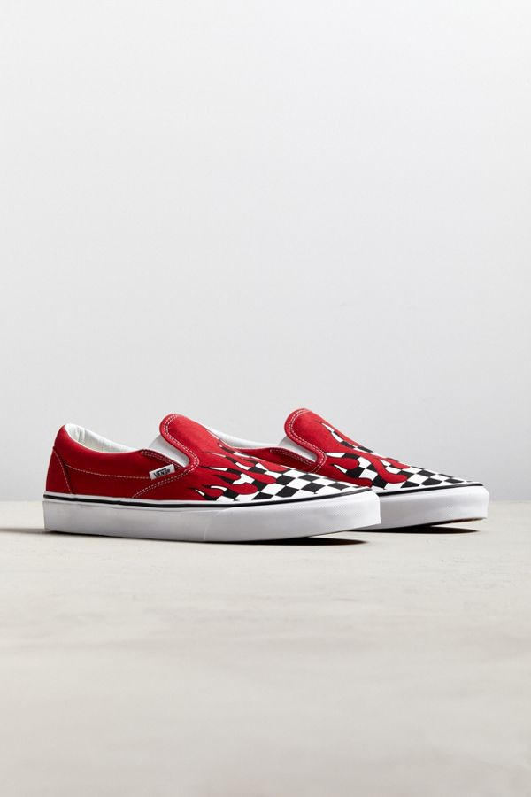 740ccee8fc8 Vans Slip-On Checkerboard Flame Sneaker