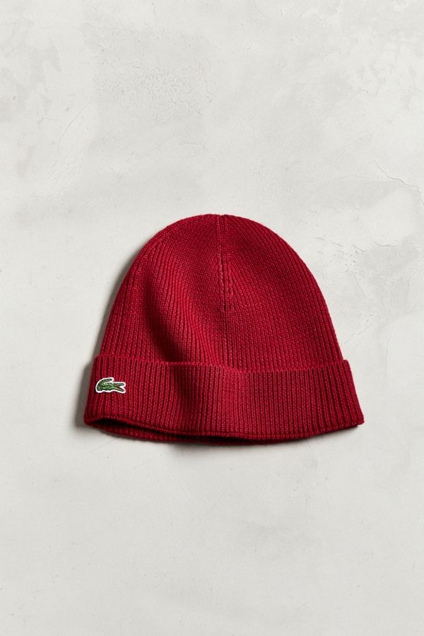 578b18e4e22c0 Slide View  1  Lacoste Ribbed Wool Beanie