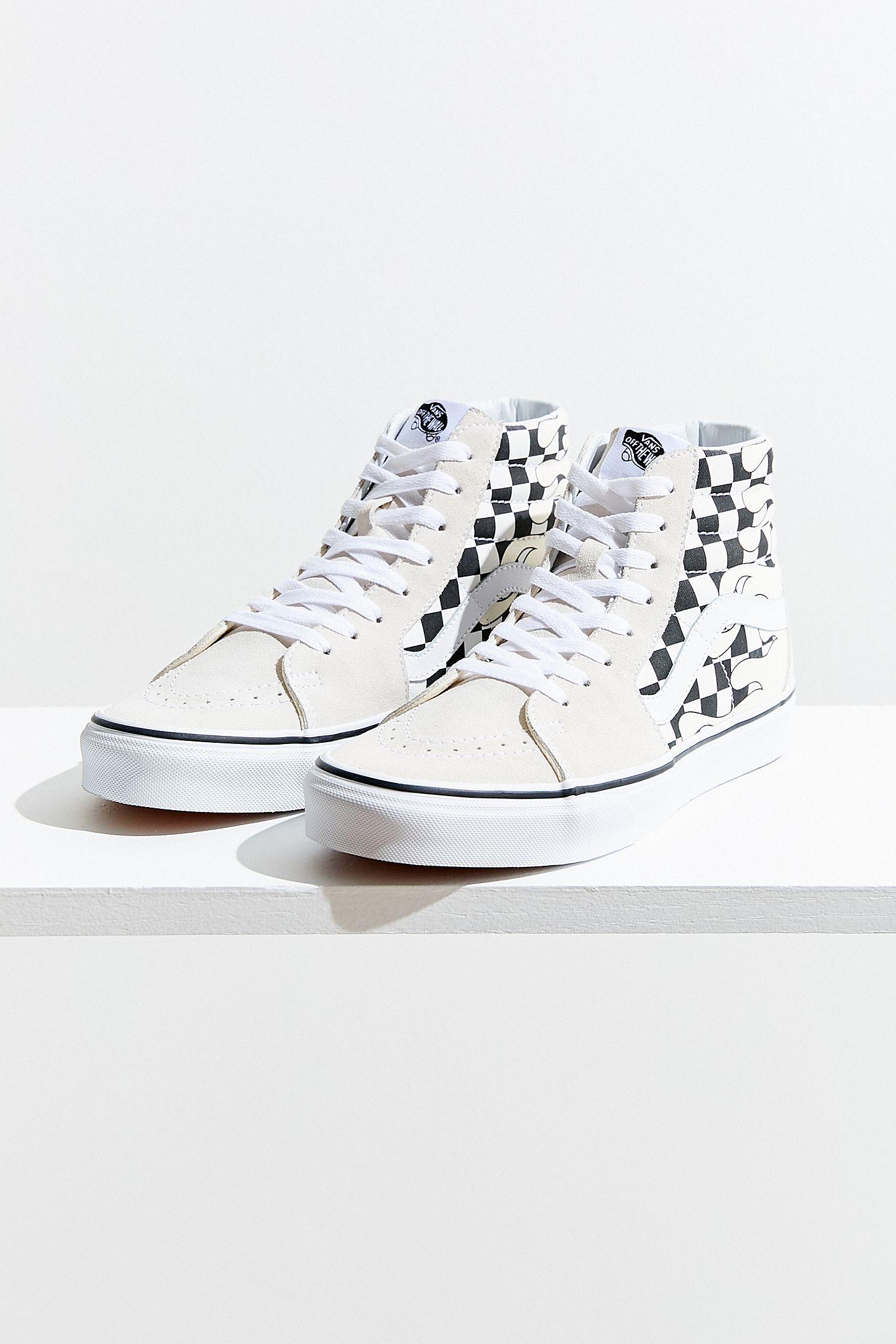 Vans Sk8-Hi Checkerboard Flame Sneaker
