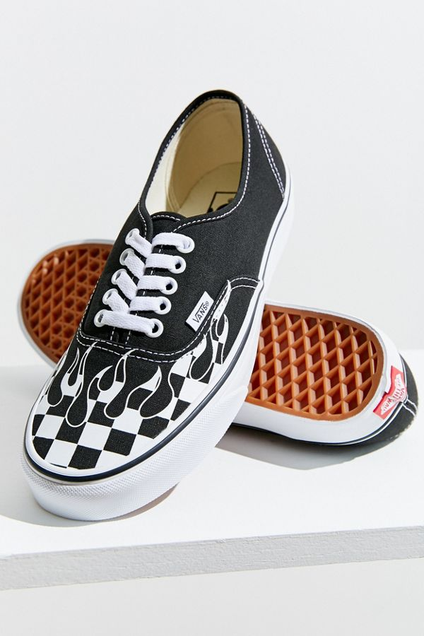 949504bdab2 Vans Authentic Checkerboard Flame Sneaker