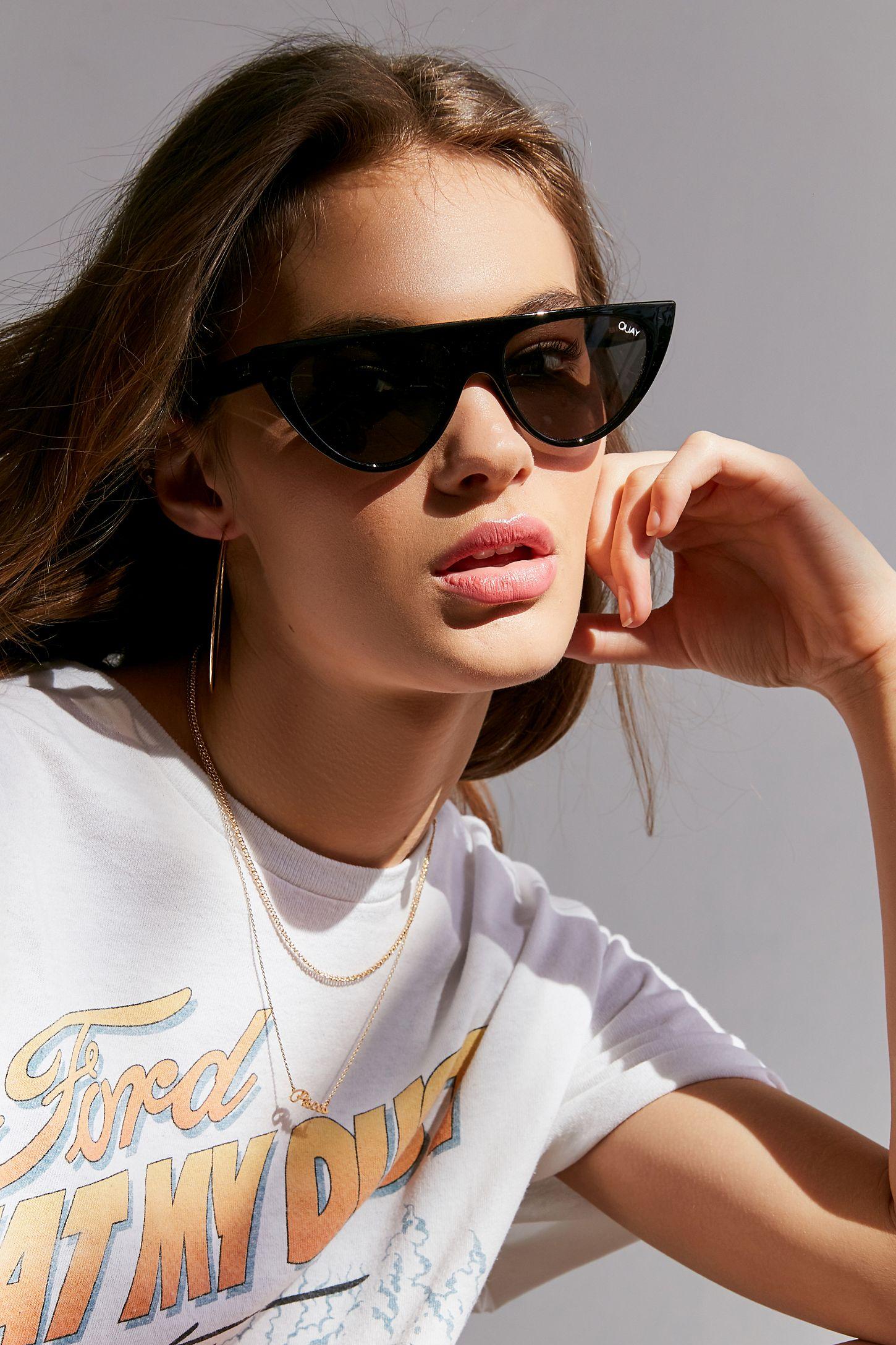 6e2731a6f8bd2 Quay Run Away Flat Top Cat-Eye Sunglasses