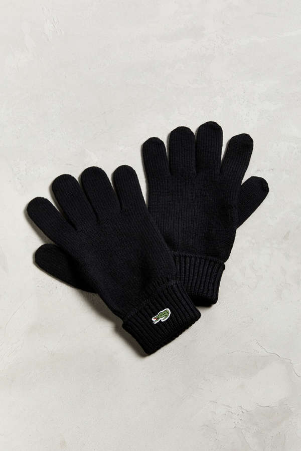 513991d3352924 Lacoste Ribbed Wool Glove