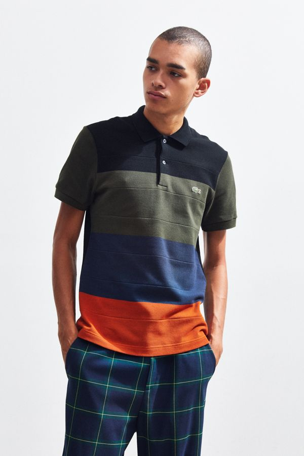 02eff0100 Lacoste Regular Fit Colorblock Pique Polo Shirt