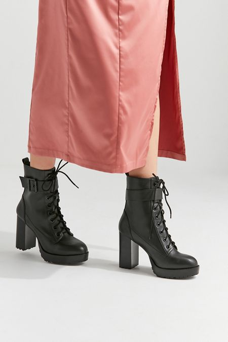 1f750aee485 UO Kennedy Heeled Lace-Up Boot