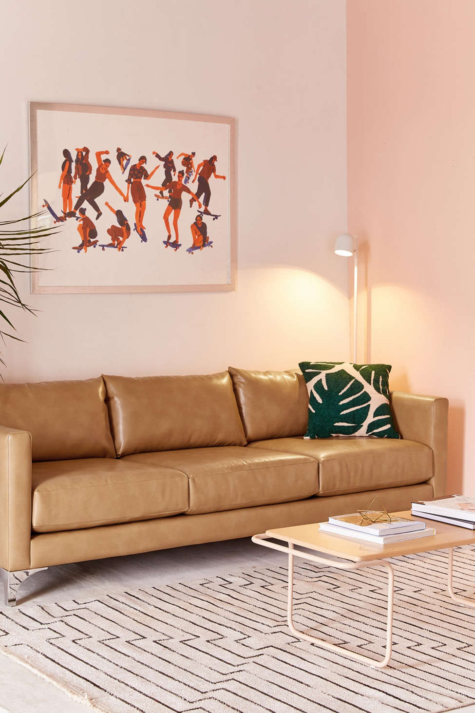 Chamberlin Recycled Leather Sofa by Urban Outfitters