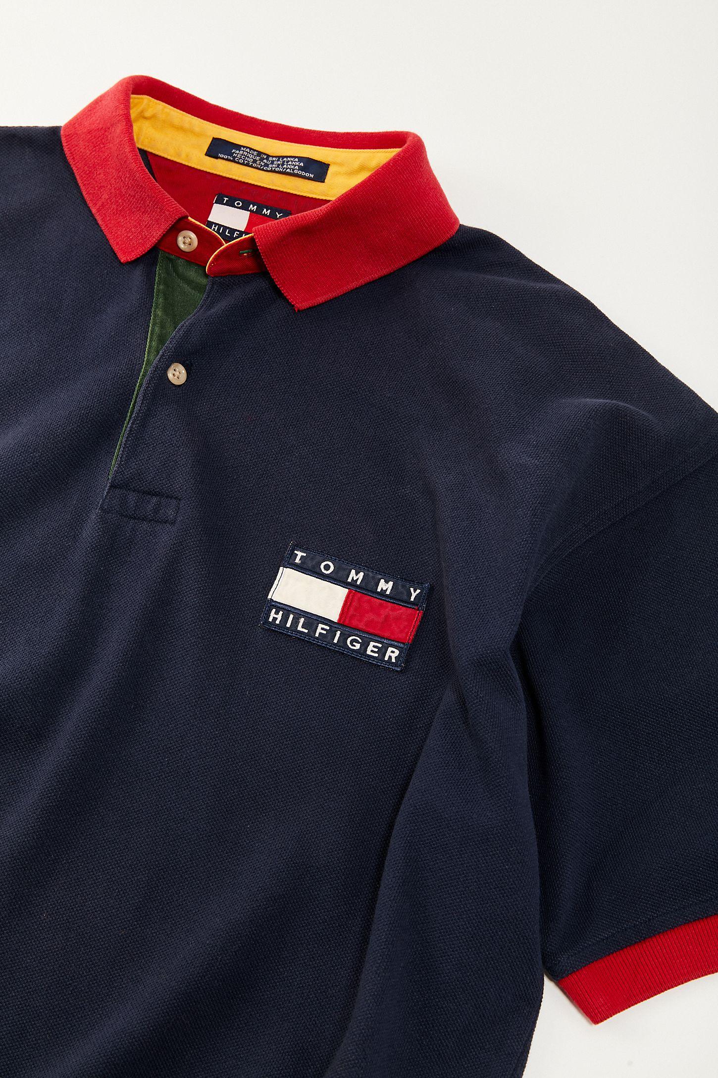 4c9b483126c42 Vintage Tommy Hilfiger  90s Flag Polo Shirt