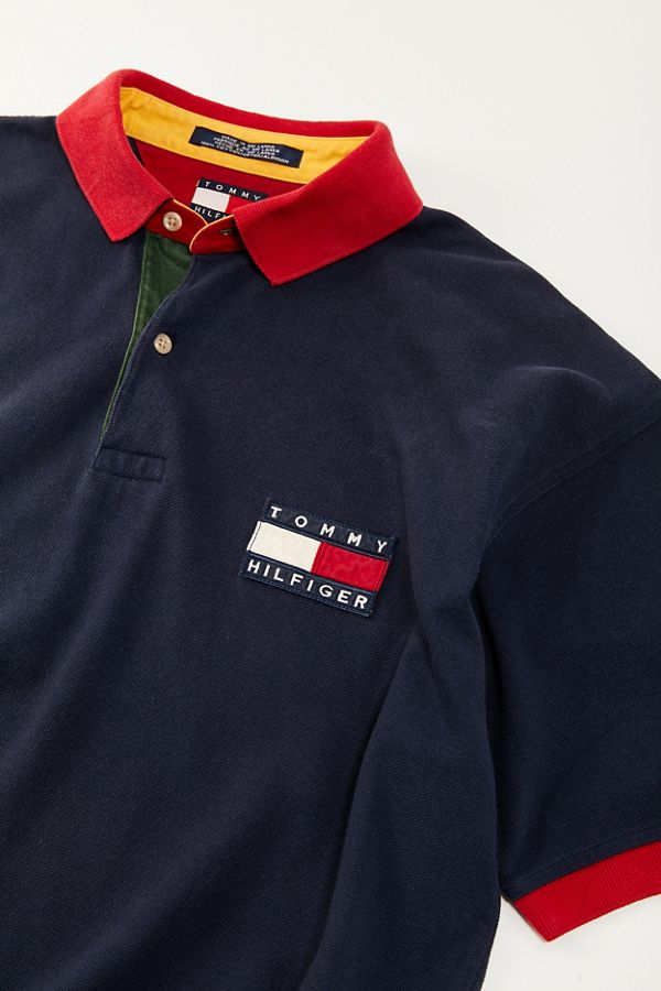 8c08b2b2d Vintage Tommy Hilfiger '90s Flag Polo Shirt | Urban Outfitters Canada