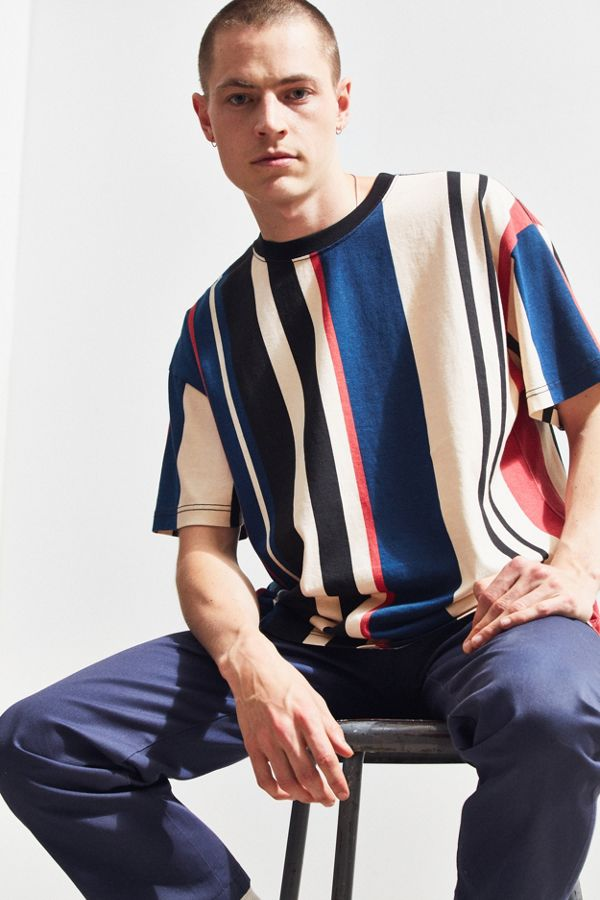 361af699 UO Wide Vertical Stripe Dad Tee | Urban Outfitters