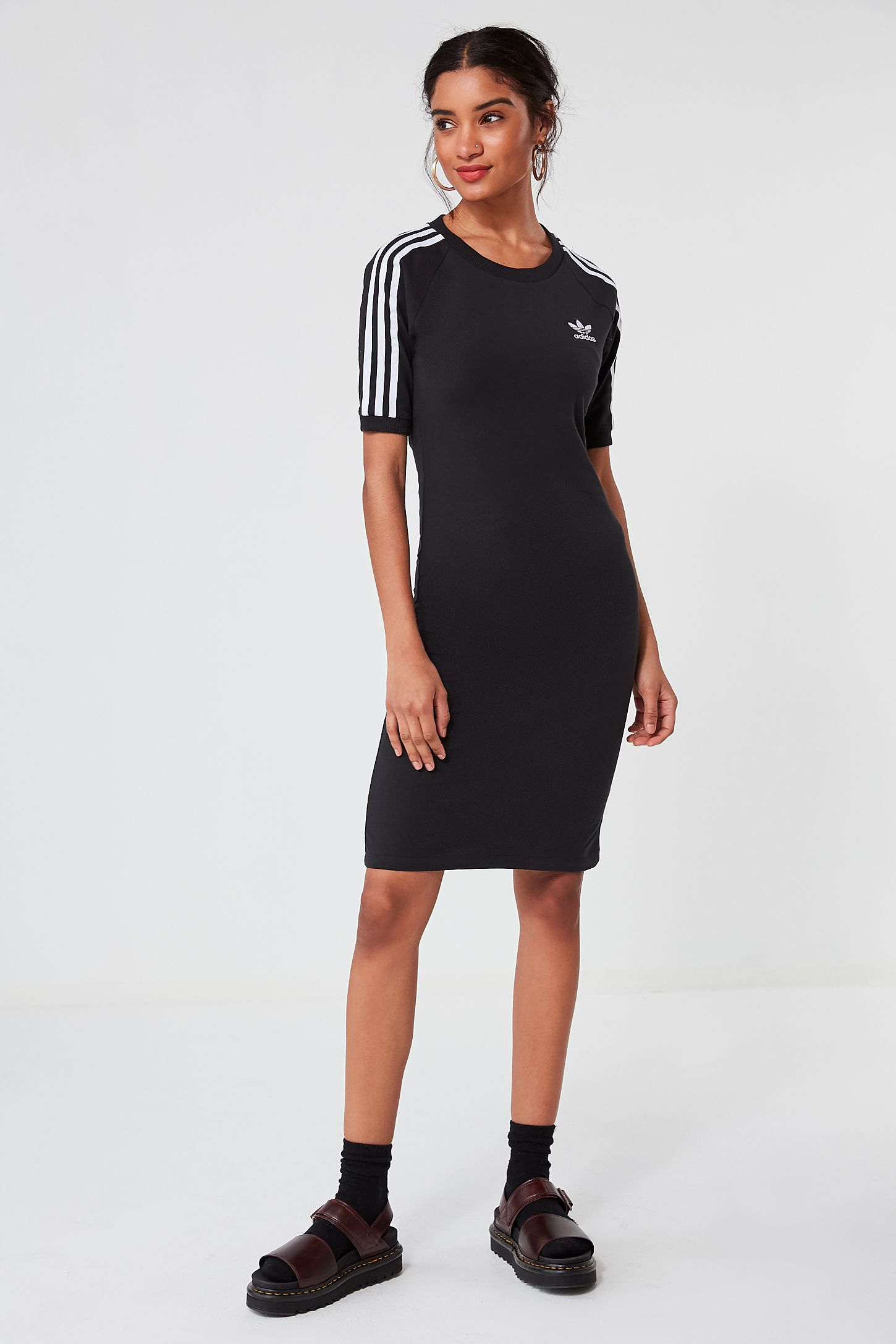 7bc66e1c704 adidas Originals 3 Stripe Midi T-shirt Dress. Tap image to zoom. Hover to  zoom. Double Tap to Zoom