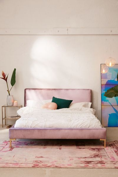 Picture of: Rosalie Velvet Platform Bed Urban Outfitters