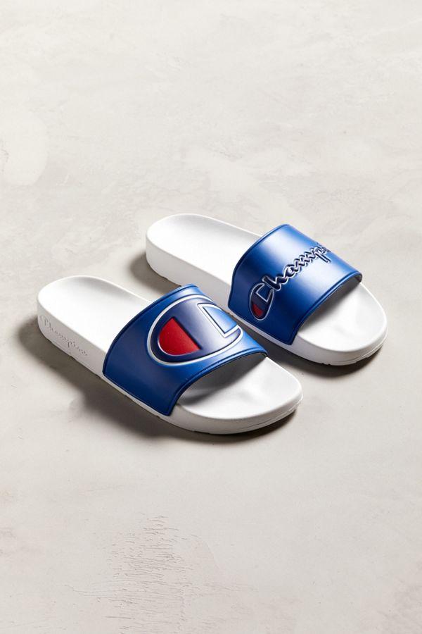 33f5c674787b26 Champion Logo Mismatched Slide Sandal