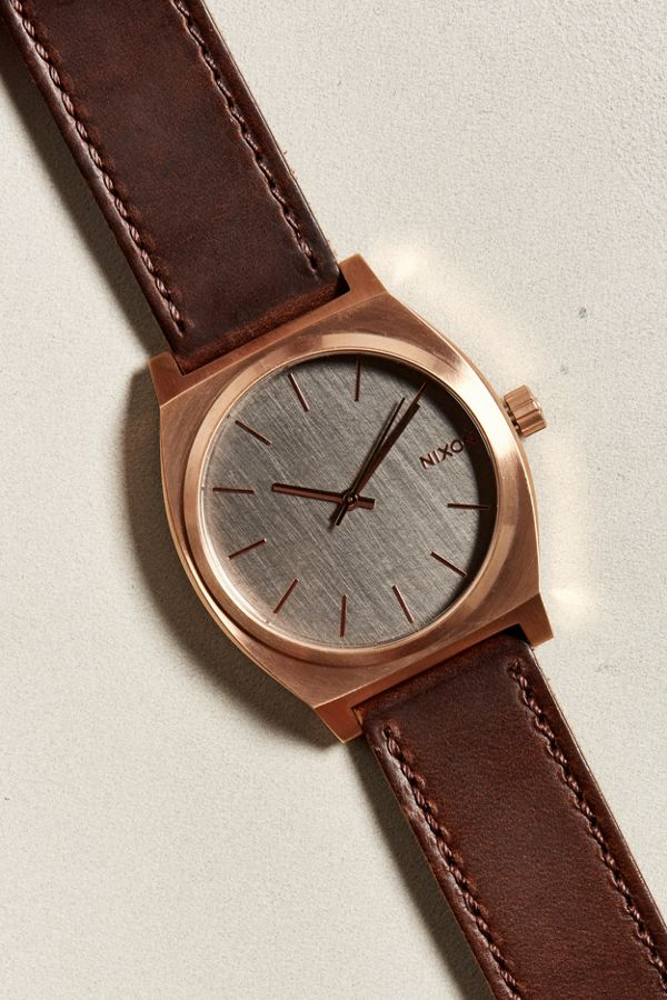 cde327455 Nixon Time Teller Leather Band Watch | Urban Outfitters
