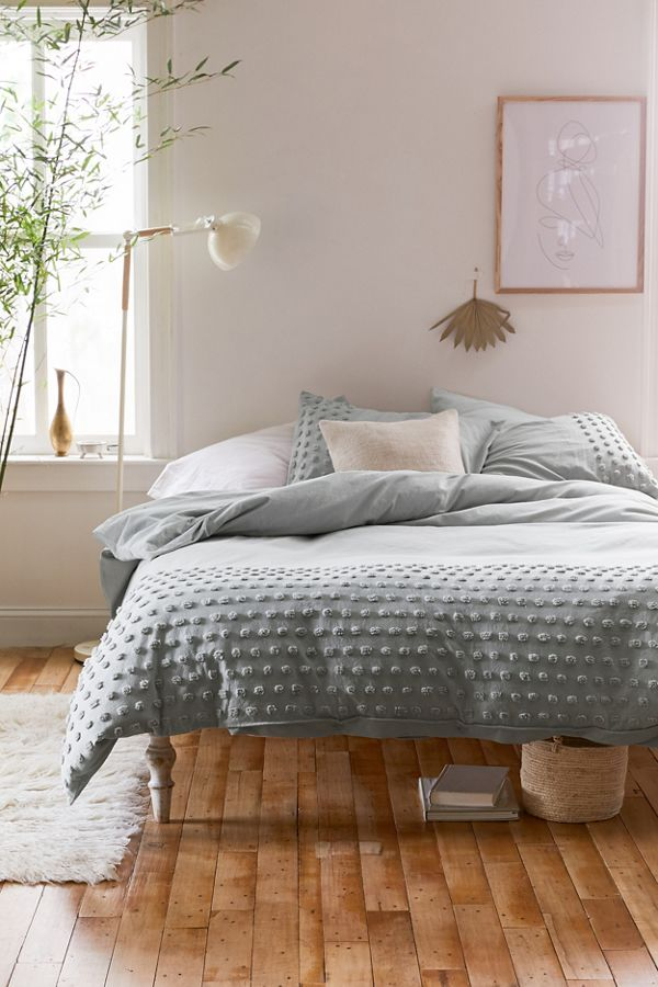 Slide View: 1: Tufted Dot Duvet Cover