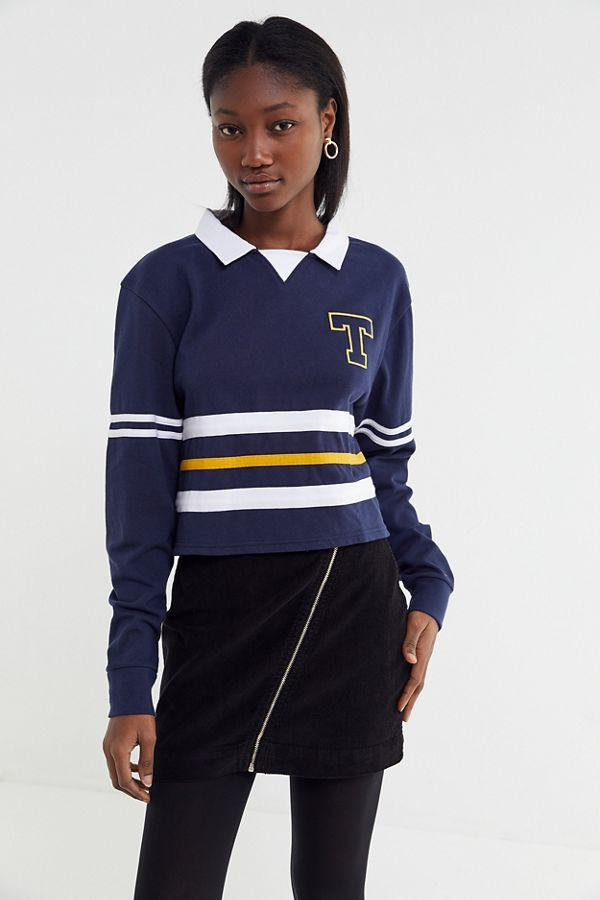 e545a57de8ed Tommy Jeans Colorblock Cropped Rugby Shirt | Urban Outfitters