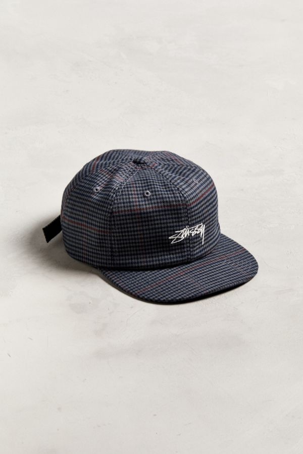 70d46a93 Stussy Small Check Strapback Hat | Urban Outfitters