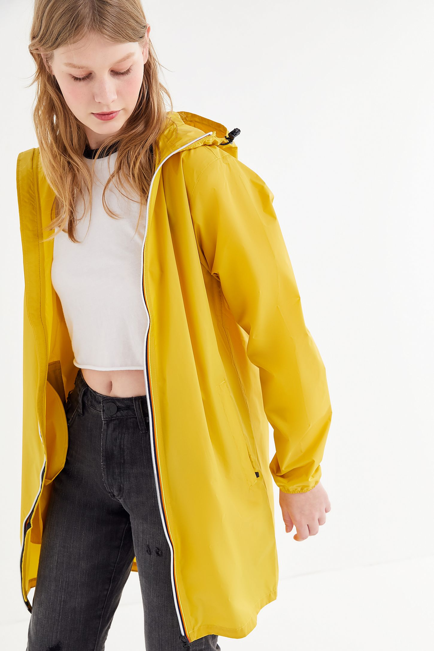 best authentic 13d6d eaf4c K-Way Le Vrai Eiffel Longline Zip-Front Jacket