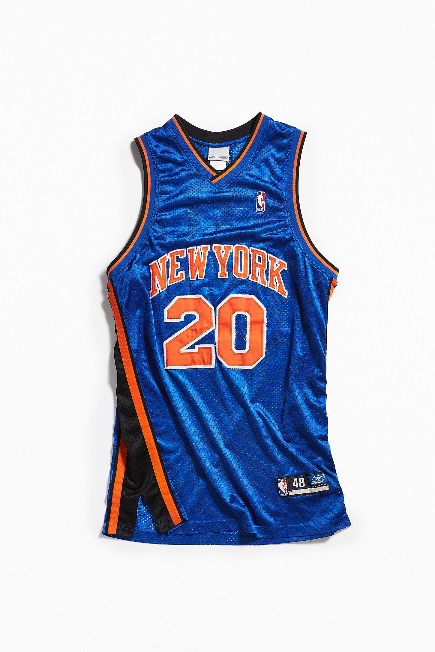799743429 Vintage Reebok Allan Houston New York Knicks Basketball Jersey ...