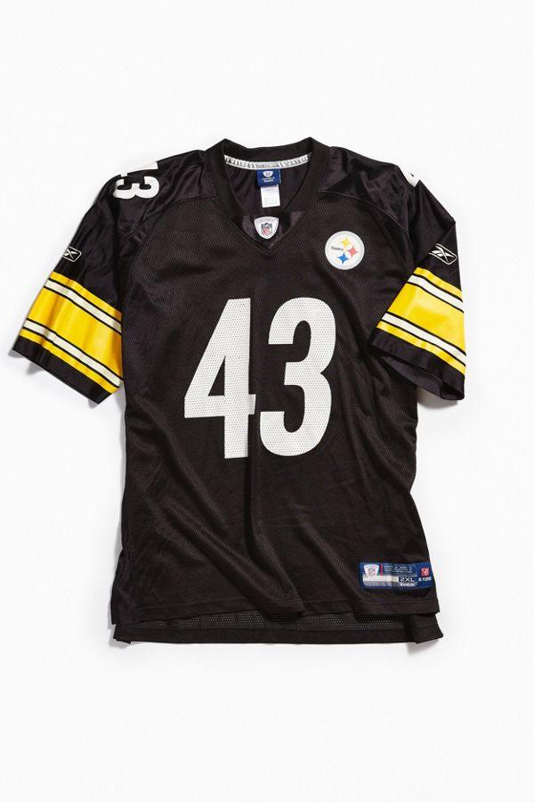 uk availability 32b82 352ae Vintage Reebok Troy Polamalu Pittsburgh Steelers Football Jersey
