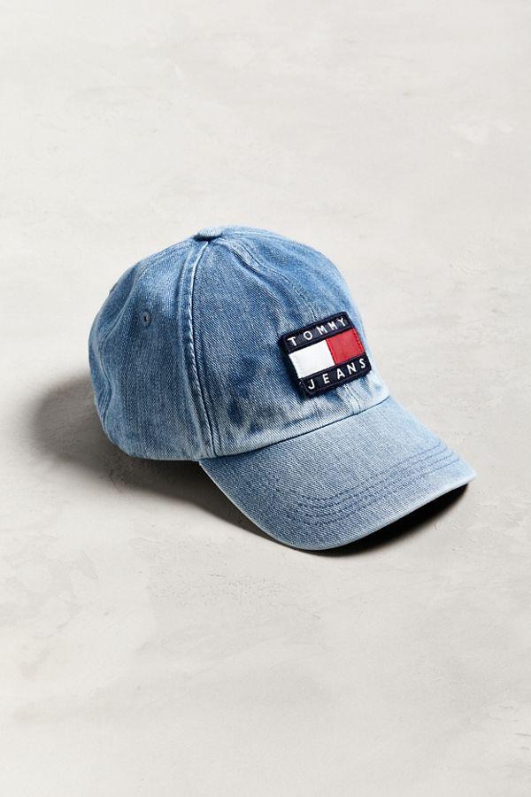 c04db9e0cd1f4 Tommy Jeans  90s Sailing Denim Baseball Hat
