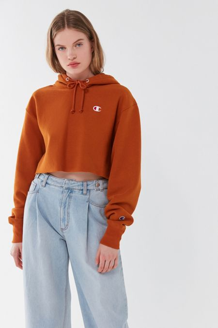78f0ace6da9 Champion UO Exclusive Cropped Hoodie Sweatshirt