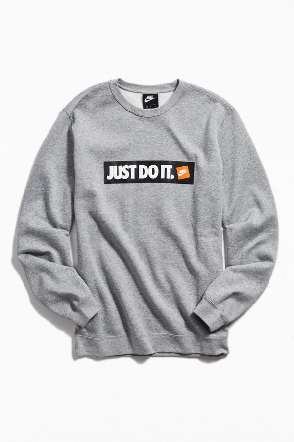 270b9a51dbd2 Nike Just Do It Logo Crew-Neck Sweatshirt