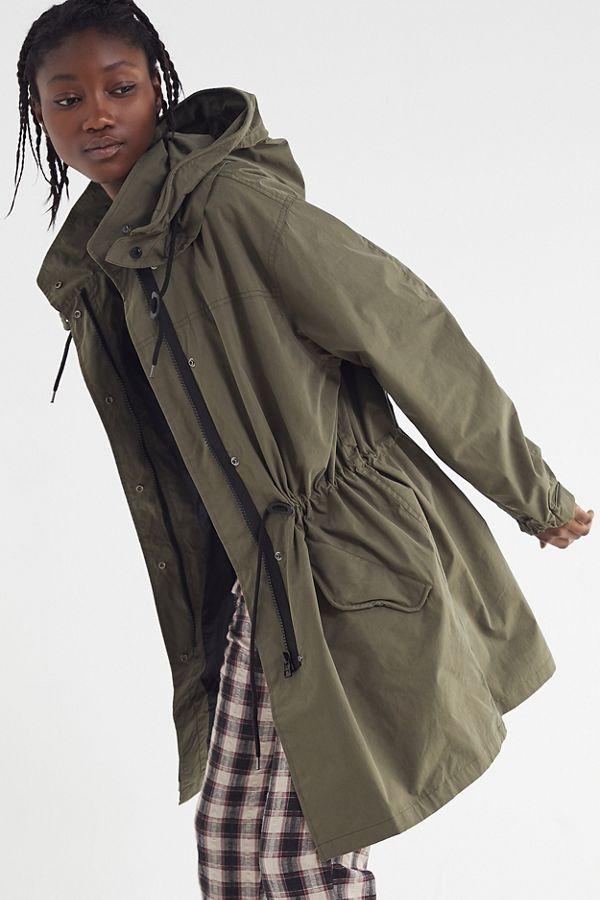 6ea50e72dd71 UO Hooded Longline Parka Coat