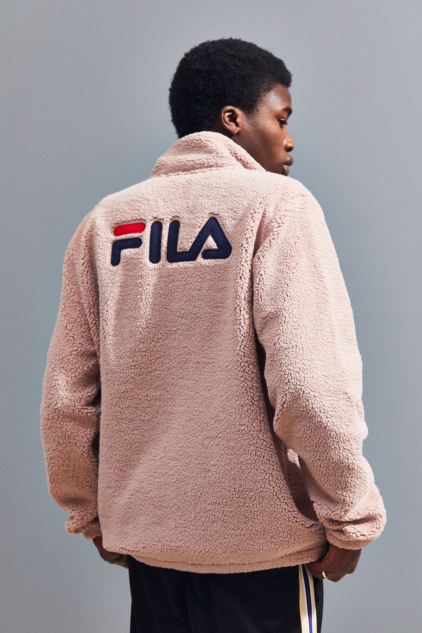 135fbdf8 FILA UO Exclusive McMillan Zip-Up Sherpa Sweatshirt Jacket