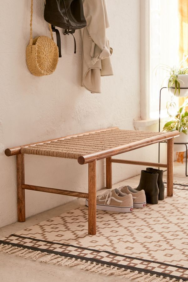 Incredible Woven Bench Gmtry Best Dining Table And Chair Ideas Images Gmtryco