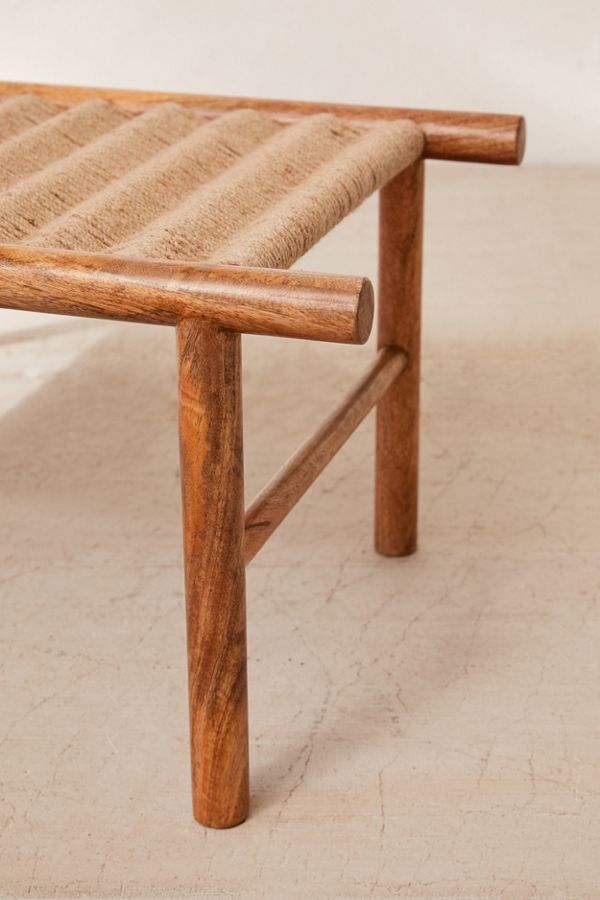 Peachy Woven Bench Creativecarmelina Interior Chair Design Creativecarmelinacom
