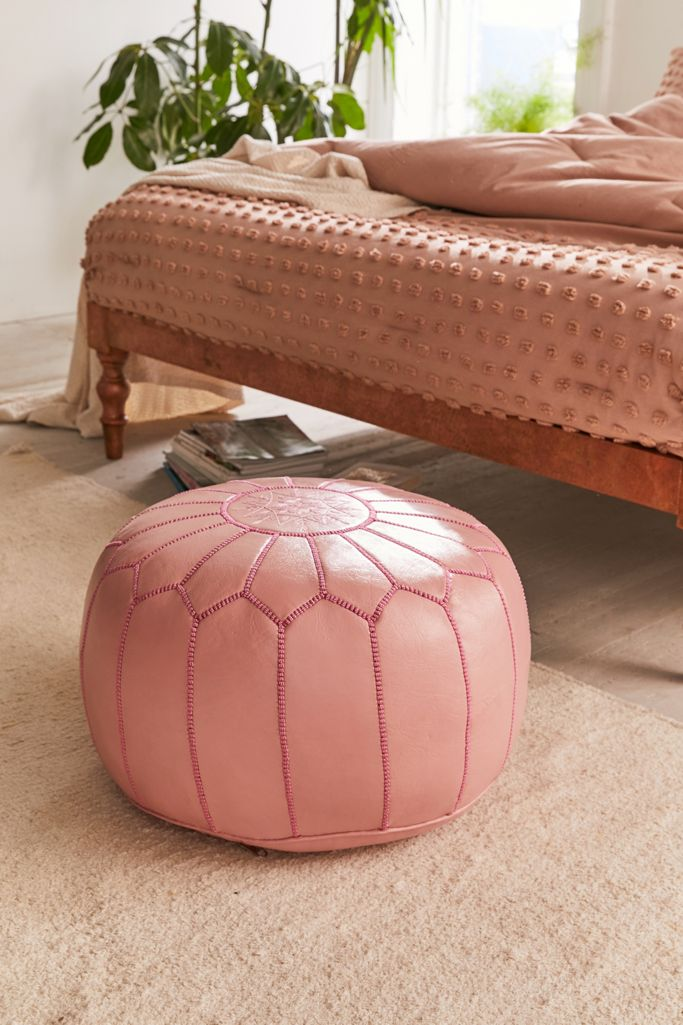 Traditional Leather Floor Pouf Urban