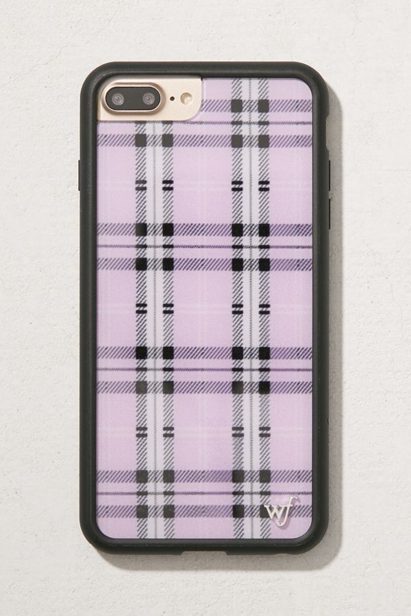 on sale 73903 fadc6 Wildflower Lavender Plaid iPhone 8/7/6 Plus Case