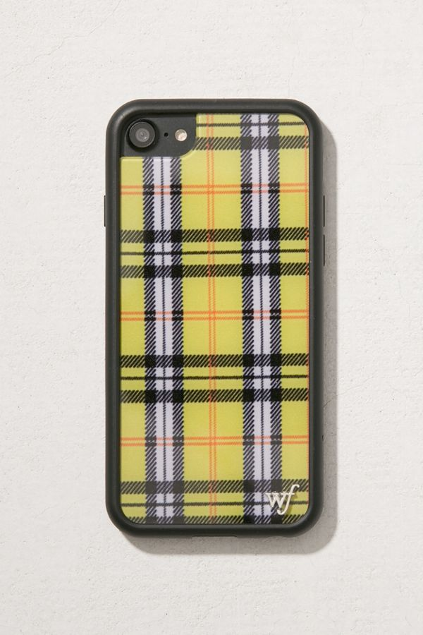 save off cc0c9 37ffe Wildflower Yellow Plaid iPhone 8/7/6 Case