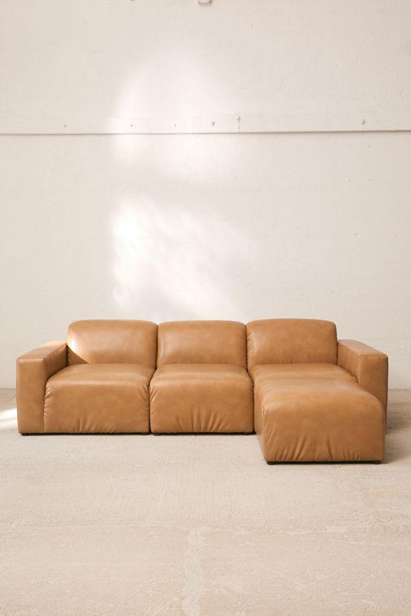 Modular Recycled Leather Sofa