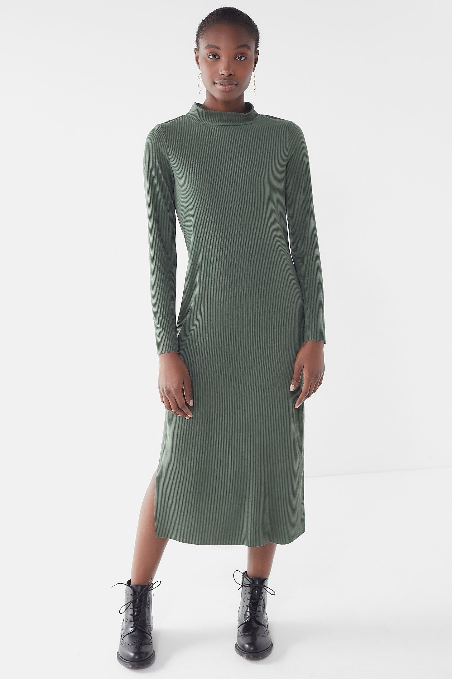ba1e90a8 Grey Ribbed Knitted Midi Dress - raveitsafe