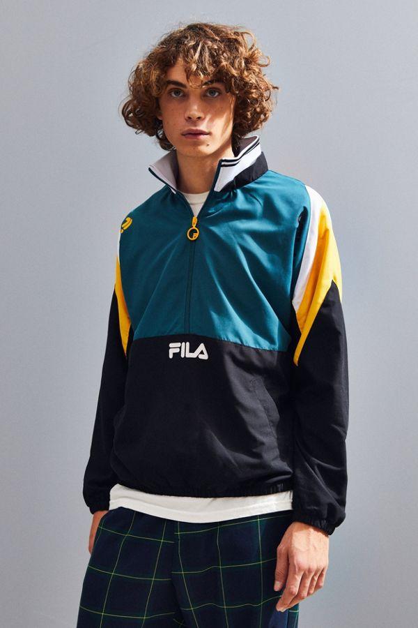 f77d259c399e FILA Marty Half-Zip Windbreaker Jacket | Urban Outfitters Canada