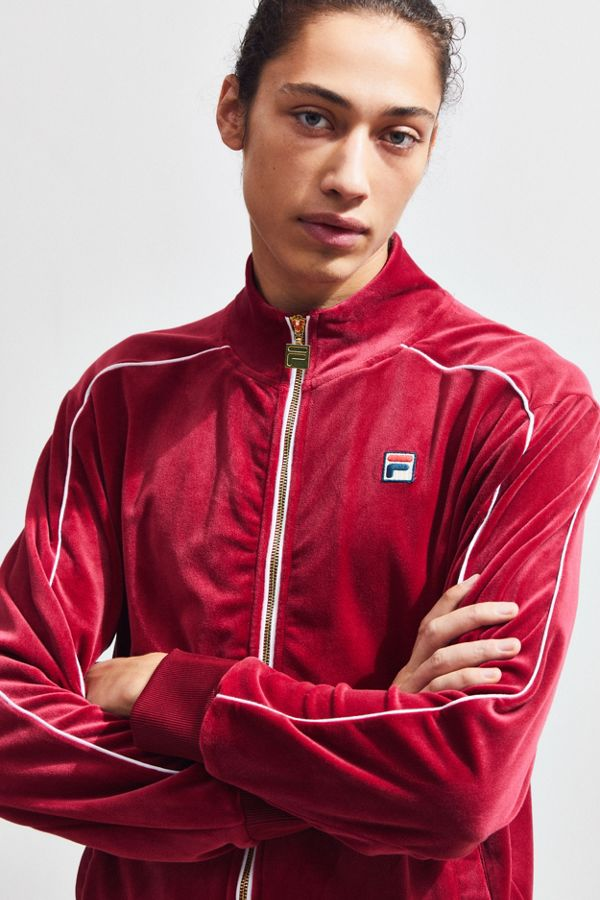 ffc037801ffe FILA Velour Track Jacket | Urban Outfitters Canada