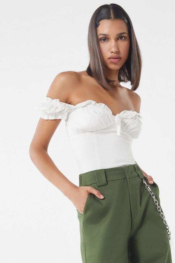 e1ef69c9952bd Slide View  1  I.AM.GIA Naomi Ruffle Bustier Top