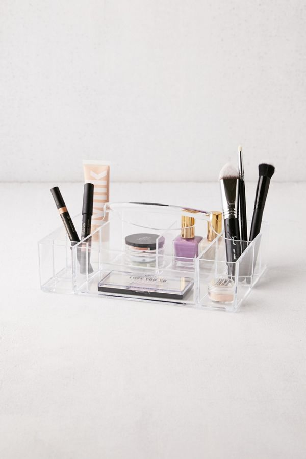 Acrylic Makeup Caddy Urban Outfitters