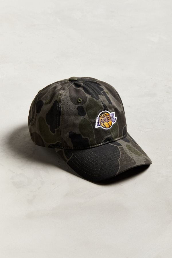 46db6c42678265 Mitchell & Ness Los Angeles Lakers Camo Baseball Hat | Urban Outfitters